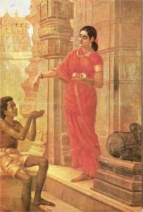 రాజారవివర్న చిత్రం - శారదా విజయోల్లాసం, పొద్దు